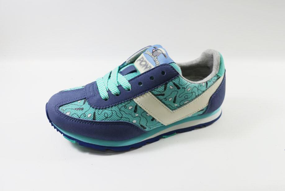 PONY 女款 休閒運動鞋 51W1SO67BL 藍+淺藍 [陽光樂活]