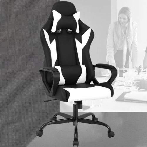 Racing Office Chair High Back Pu Leather Gaming Chair Reclining Computer Chair 0