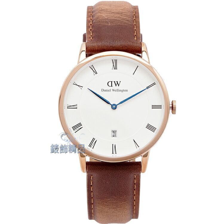 【錶飾精品】現貨 瑞典 DW 手錶 Daniel Wellington Dapper Durham DW00100115 38mm 玫瑰金 全新原廠正品