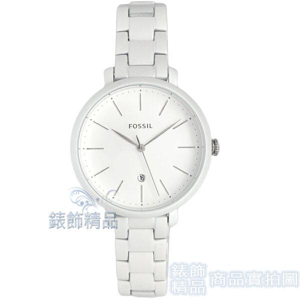 【錶飾精品】FOSSIL手錶ES4397日期亮白色鋼帶女錶