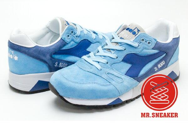 ☆Mr.Sneaker☆Diadora義大利製國寶鞋MADEINITALYS8000水藍男段