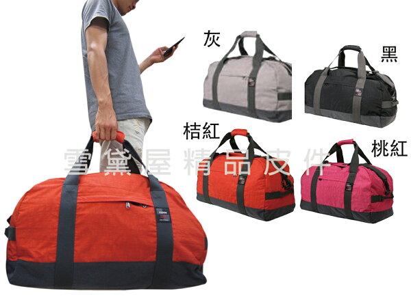 ~雪黛屋~YESON旅行袋超大容量台灣製造品質保證輕量高單數防水尼龍布可固定行李箱拉桿合併手提肩斜背Y62024