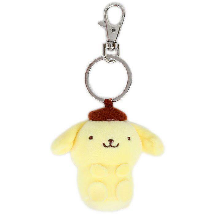 絨毛玩偶鑰匙圈 凱蒂貓 美樂蒂 大眼蛙 布丁狗 帕洽狗 三麗鷗 Sanrio 日本進口正版授權
