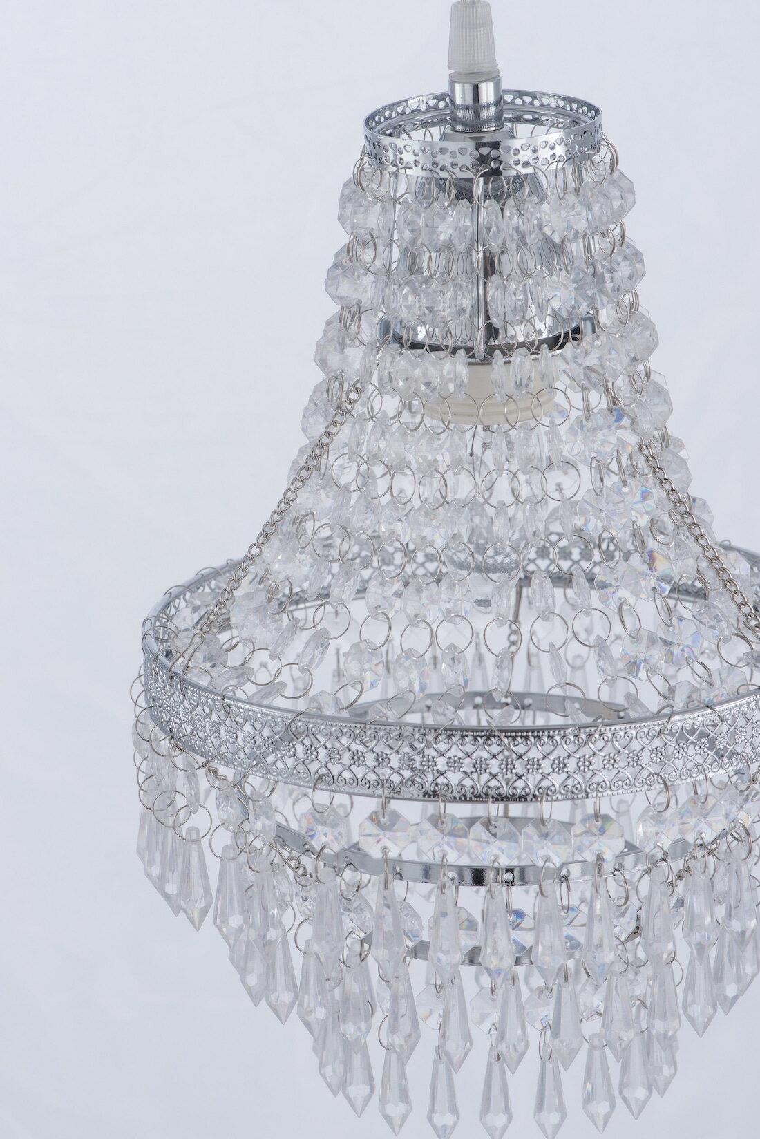 鍍鉻色華麗透明壓克力珠吊燈-BNL00022 3