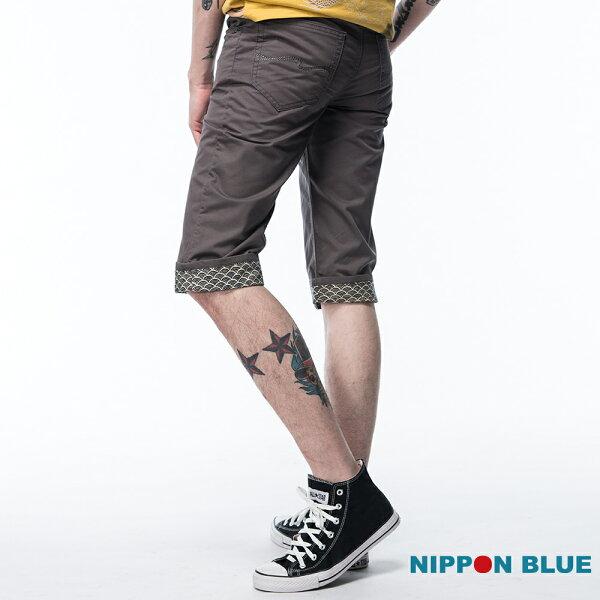 【限時5折】日本藍經典圖騰吸濕排汗五分褲-BLUEWAYNIPPONBLUE日本藍