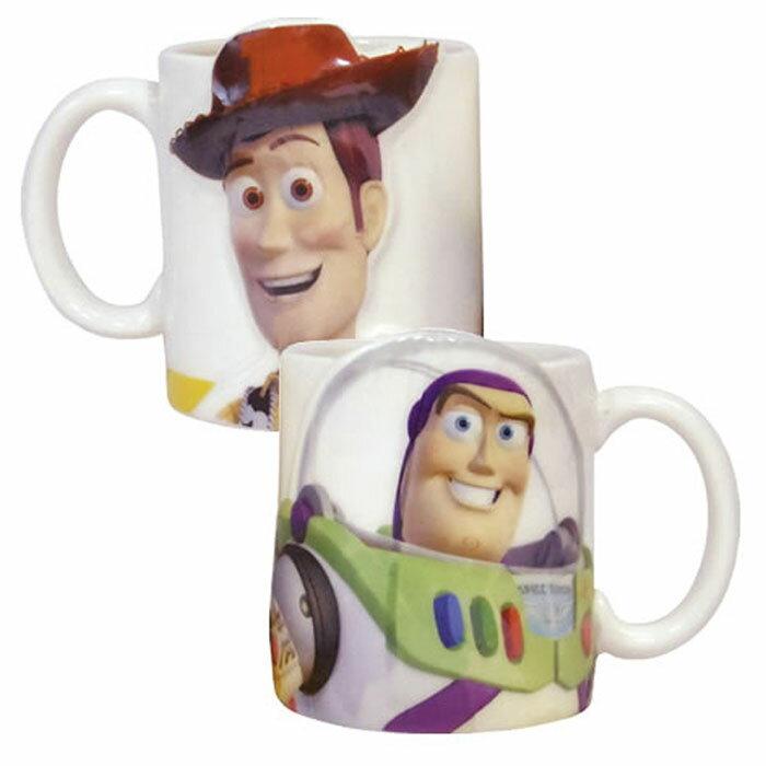 迪士尼 皮克斯 卡通電影 玩具總動員Toy Story陶瓷陶磁巴斯胡迪馬克杯對杯組   2