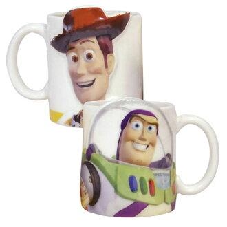 大田倉 日本進口正版商品 迪士尼 皮克斯 卡通電影 玩具總動員Toy Story陶瓷陶磁巴斯胡迪馬克杯對杯組 235378