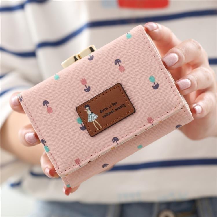 時尚女士錢包女短款日韓版張果果同款三折學生可愛女孩迷你零錢包