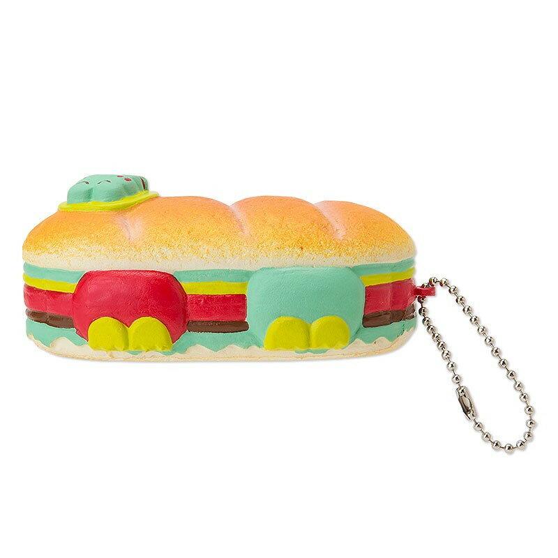 大眼蛙Keroppi 造型玩偶吊鍊-麵包,鑰匙圈/吊飾/玩偶/禮品/包包吊飾/掛飾,X射線【C323328】