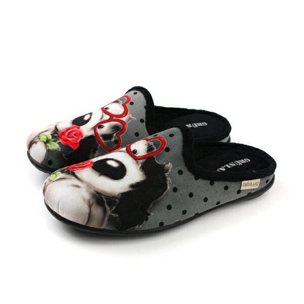 HUMAN PEACE:Grunland懶人鞋休閒鞋狗狗灰色女鞋CI2203no001
