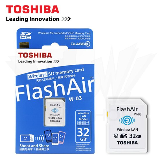 TOSHIBA 東芝 32GB SD HC Class 10 Wi-Fi 無線傳輸記憶卡 W-03 第三代