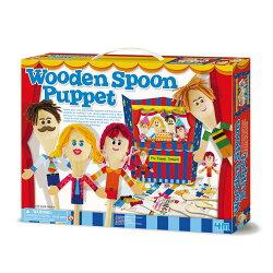 【4M】美勞創作系列-湯匙木偶劇團Wooden Spoon Puppet 00-04558