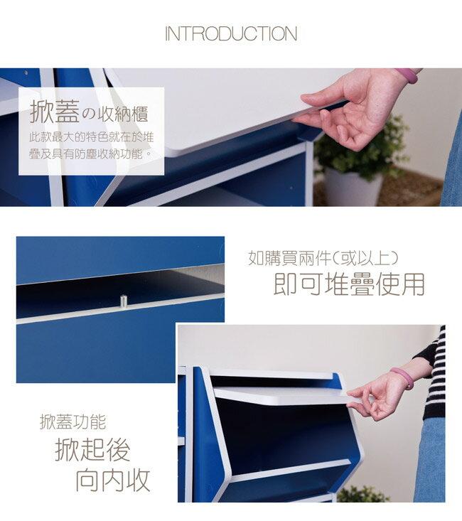 門櫃 / 書櫃 / 整理櫃 TZUMii 艾莉絲掀門櫃-藍色 4