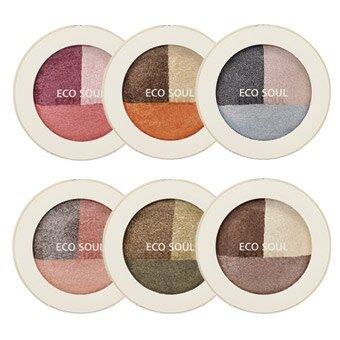 【即期良品】韓國the SAEM Eco Soul 三色眼影盤-6.5g Eco Soul Triple Dome Shadow【辰湘國際】 0