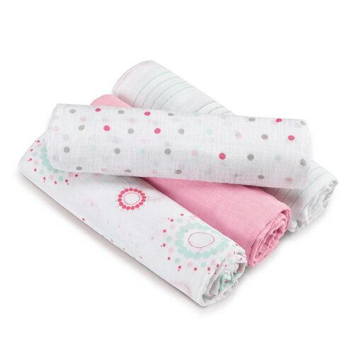 美國aden+anais新生兒外出包巾(4入)-甜心粉系列AA-S117【悅兒園婦幼生活館】