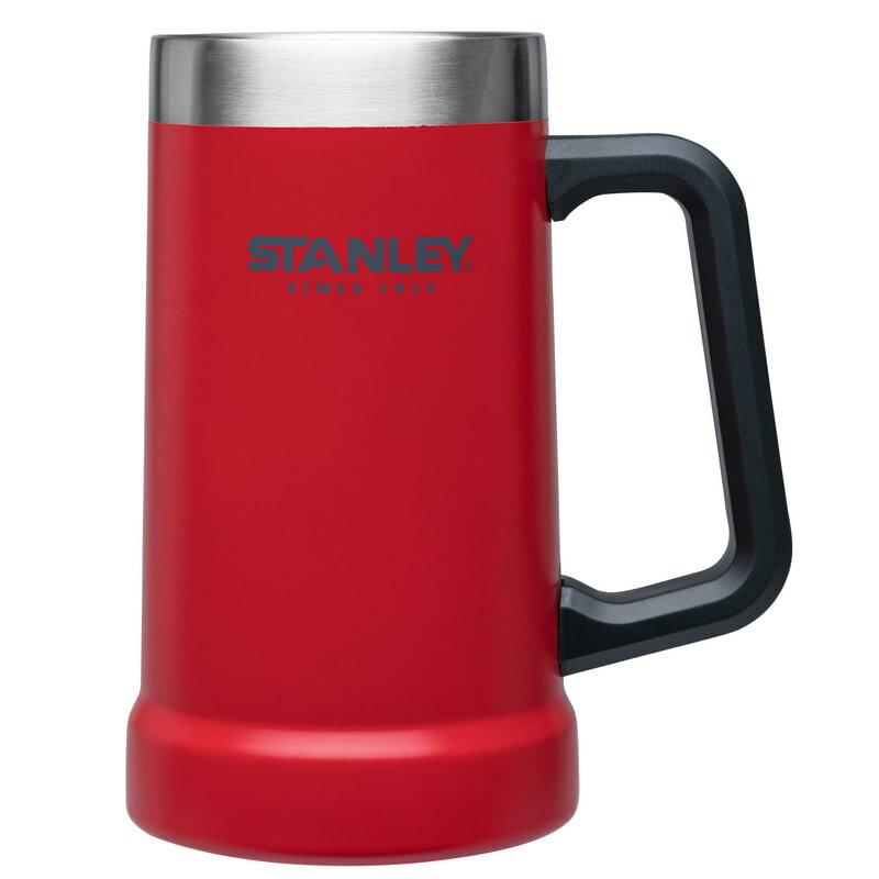 【【蘋果戶外】】Stanley 1002874 紅 700ml 美國 冒險系列 真空啤酒杯 酷冰杯保溫杯保冰保冷 10-02874
