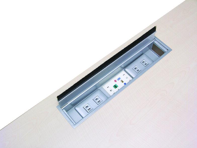 [TOP OA]會議桌單掀線槽盒/雙掀線槽盒/OA辦公家具/配件
