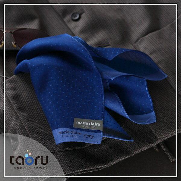 日本手帕:星空點點 太空藍 47*47 cm (手帕 男士手帕 紳士手帕 -- taoru 日本毛巾)