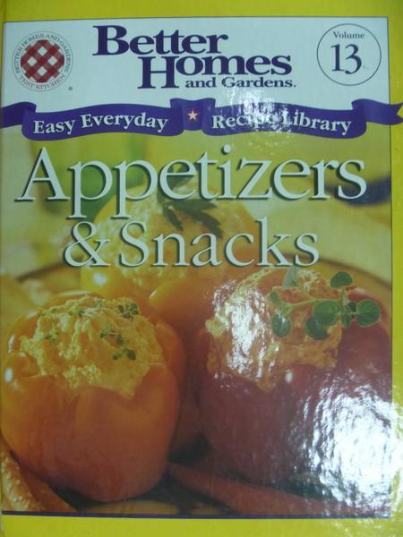 【書寶二手書T6/餐飲_YGV】Appetizers snacks_Easy everyday recipe...