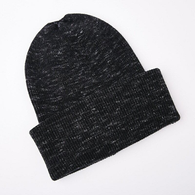 毛帽羊毛針織帽-簡約提花捲邊保暖男帽子2色73wj27【獨家進口】【米蘭精品】 1