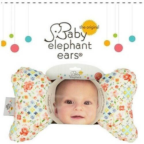 Woolala:★啦啦看世界★BabyElephantEars大象枕嬰兒枕外出枕寶貝小花攜帶枕車用彌月禮護頸