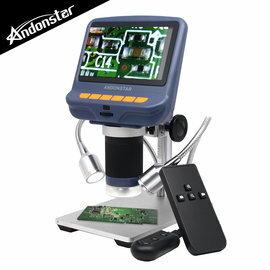 【Andonstar AD106S 4.3吋螢幕USB數位電子顯微鏡+LED蛇管燈-最高95倍放大/清晰顯示/支援FHD1080P/雙蛇管燈】【風雅小舖】