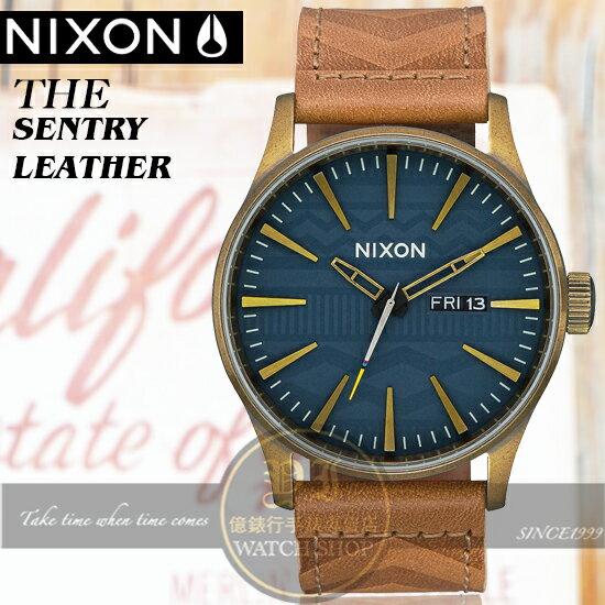NIXON實體店THESENTRYLEATHER腕錶A105-2731公司貨極限運動時尚潮流