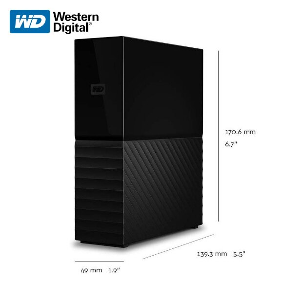 Western Digital 威騰 My Book 3.5吋 4TB 6TB 8TB 10TB 12TB 外接硬碟