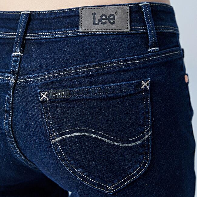 Lee 433高腰合身窄腳牛仔褲 / RG-深藍色 4