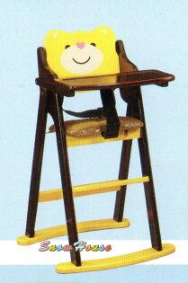 ╭☆雪之屋居家生活館☆╯AA633-16兒童餐椅寶寶椅寶寶用餐椅寶寶折合餐椅寶貝熊餐椅
