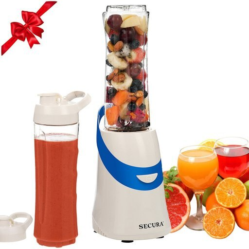 Secura 300W Personal Blender for Shakes and Smoothies Stainless Blade 2 (20 oz) Single Serving Bottles with Travel Lids bbaba5ccba5c7ca45ede3518c61d70c8