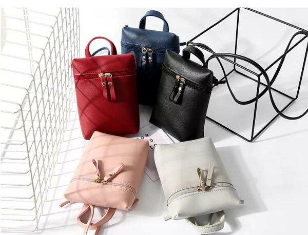 韓版時尚大容量單肩小方包可愛輕巧素雅簡約皮包斜背包