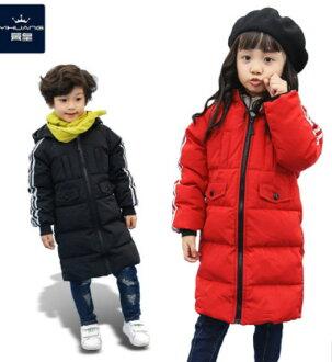 2016冬季保暖加厚修身長款男女童中大童羽绒服外套
