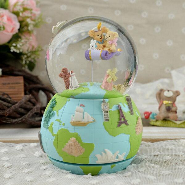 讚爾藝術:讚爾藝術JARLL築夢飛翔水晶球音樂鈴情人節生日禮物居家擺飾