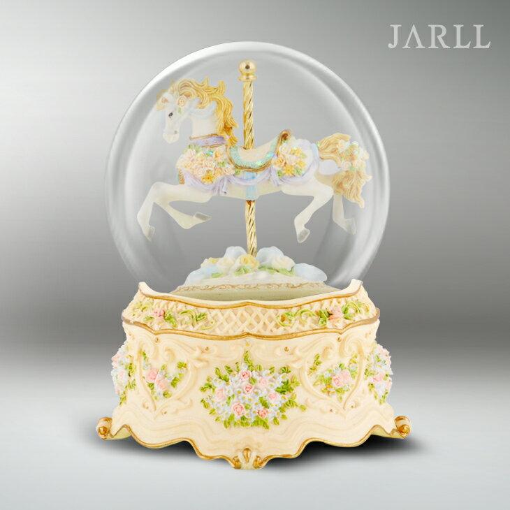 讚爾藝術 JARLL 公主遊樂馬 水晶球音樂盒 生日禮物 居家擺飾