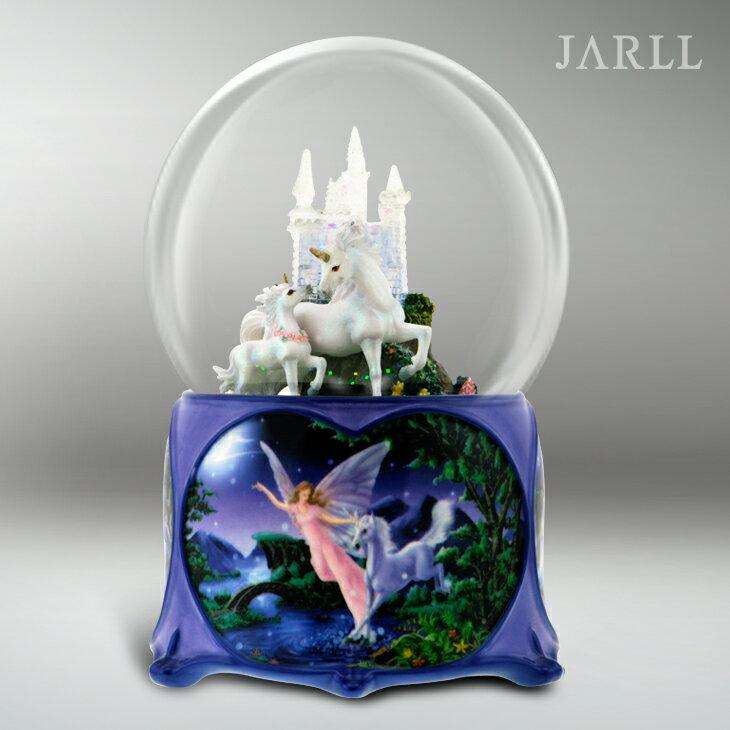 讚爾藝術 JARLL 獨角馬城堡  水晶球音樂盒 生日禮物 居家擺飾