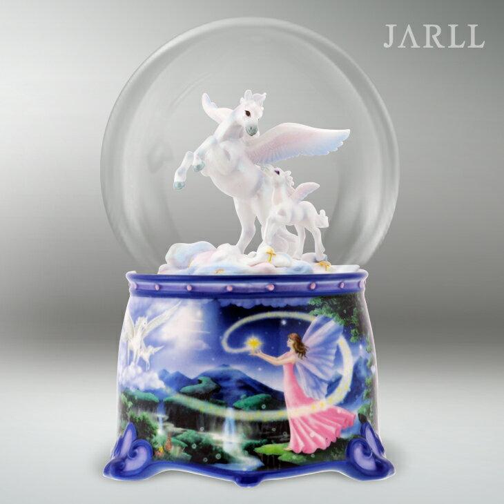 讚爾藝術 JARLL  夢幻飛馬 水晶球音樂盒 生日禮物 居家擺飾