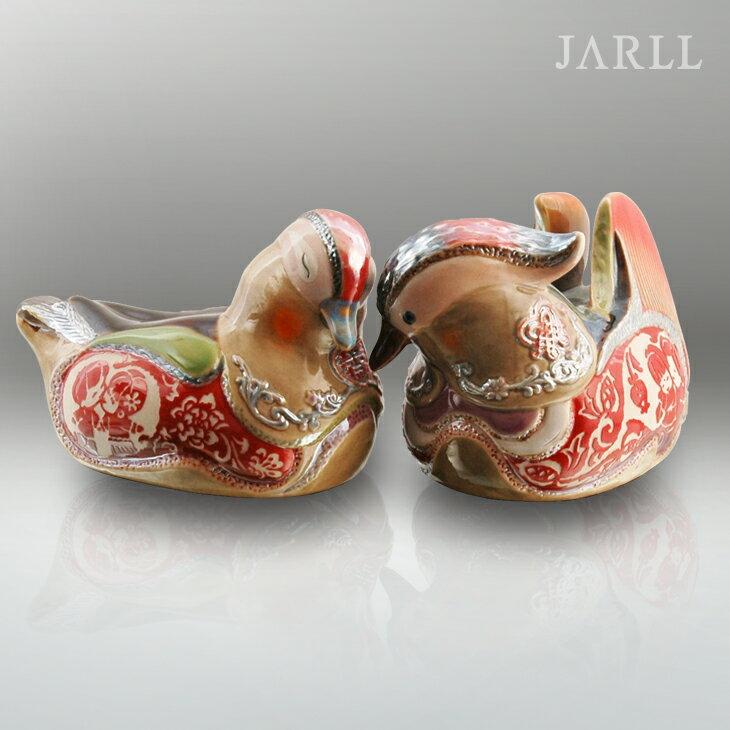 讚爾藝術 JARLL 鴛鴦(小) - 天作之合 窯變釉陶藝 精緻擺飾 新居結婚賀禮