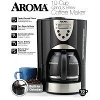 消暑廚房家電到威寶家電【美國AROMA】自動磨豆美式咖啡機(ACM-900GB)