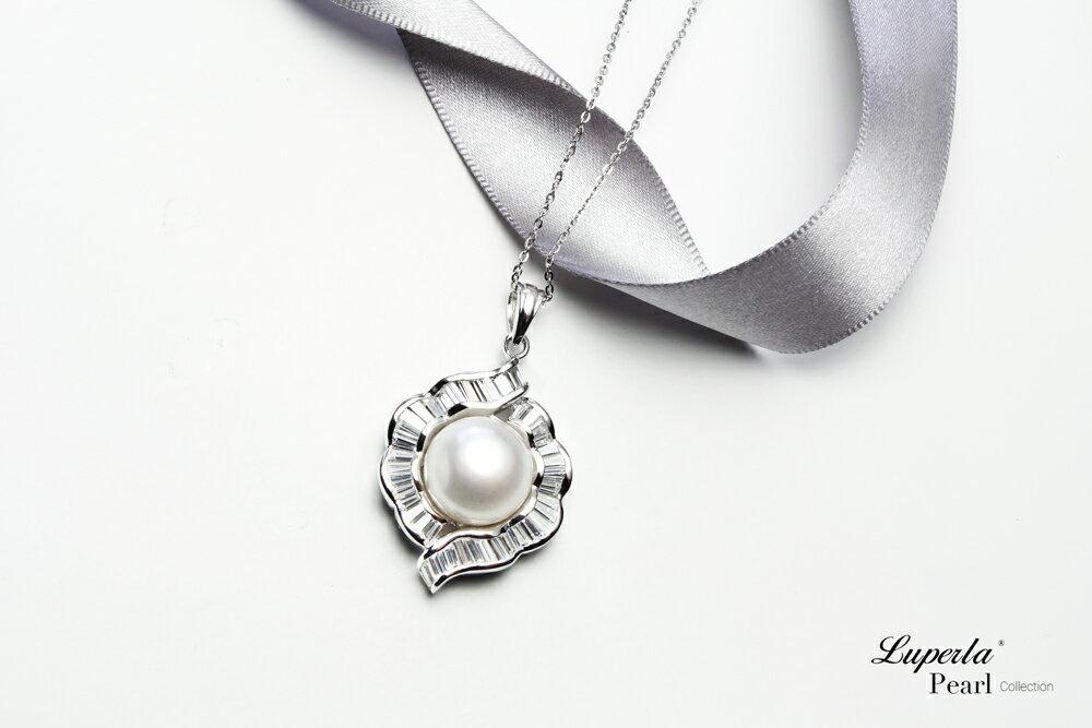 大東山珠寶  永恆典範  天然珍珠925銀項鍊 3