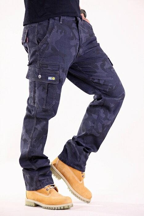 【任選3件$999】韓風迷彩 特級彈力 大口袋 耐磨 工作褲 長褲 7300【CS衣舖 】 1