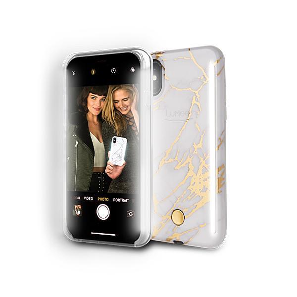 LUMEE Duo 雙面 LED 補光手機殼 iPhone X 金屬大理石 (最新款式) 5