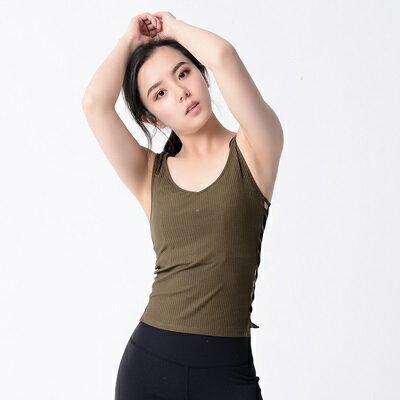 瑜珈服無袖背心-性感鏤空彈力針織女運動服3色73rh19【獨家進口】【米蘭精品】