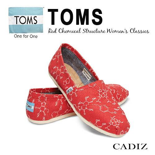【Cadiz】美國真品正品TOMS紅色化學元素帆布鞋 [Red Chemical Structure/ 代購/ 現貨]