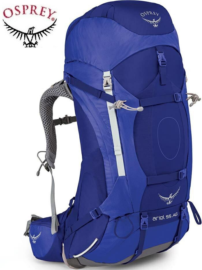 Osprey 後背包/登山背包/背包客/背包/健行 Ariel AG 55 精靈55升登山背包 女款 潮汐紫