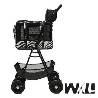 【WILL設計 + 寵物用品】雙層萬搭可拆式推車+WB02極透氣抗夏黑網#斑馬紋