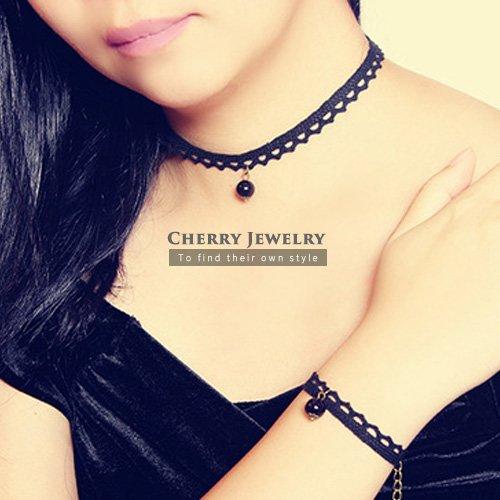 蕾絲珍珠造型頸鍊手鍊10282【櫻桃飾品】【10282】