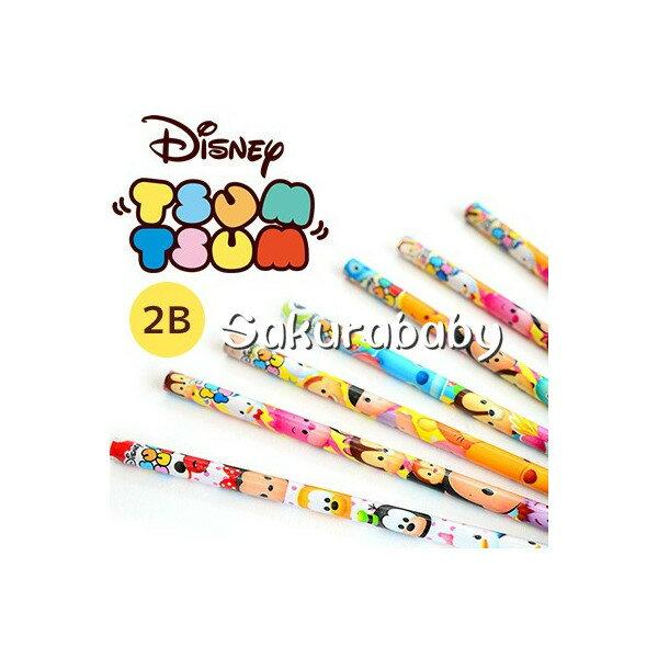 迪士尼 tsum tsum 2B鉛筆 卡通鉛筆 小禮物 一包四入 不挑色 櫻花寶寶