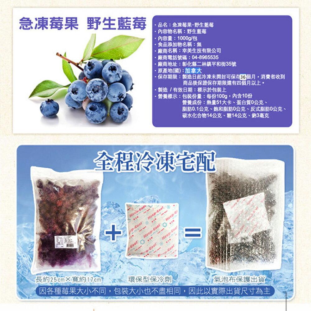 ▶【幸美生技】進口急凍莓果 加拿大進口野生藍莓 1公斤 7