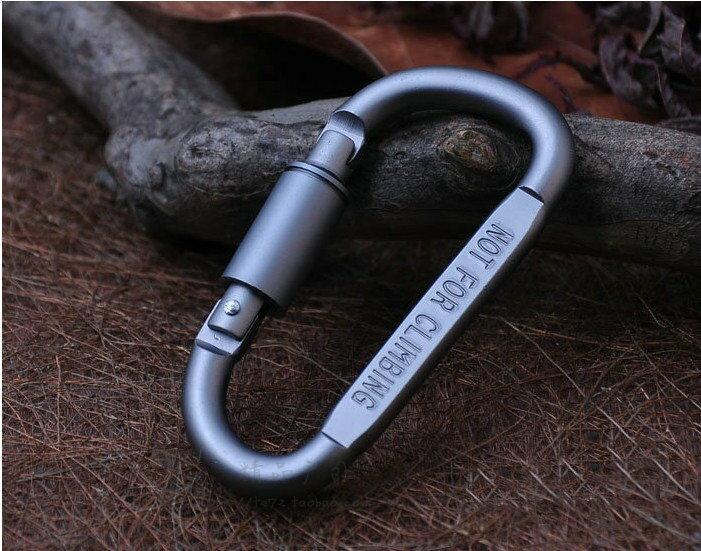 鋁合金 D 型快掛 掛鉤 露營 吊掛 掛勾 D型環